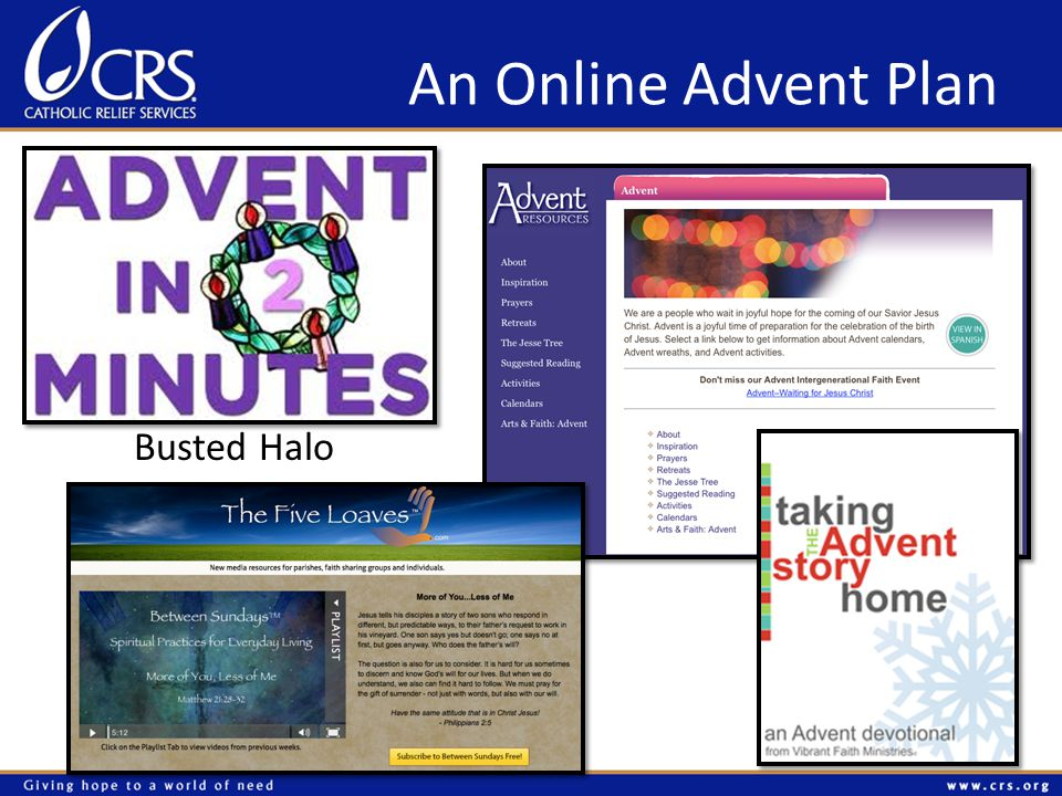 An Online Advent Plan Busted Halo
