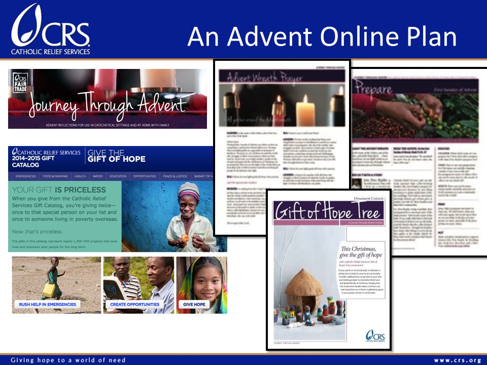 An Advent Online Plan