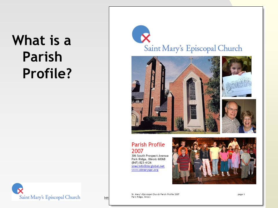 http://www.stmaryspr.org/ Content strategy Key content Use charts and graphs for financial and congregational statistics This would be good task for one of your experts!