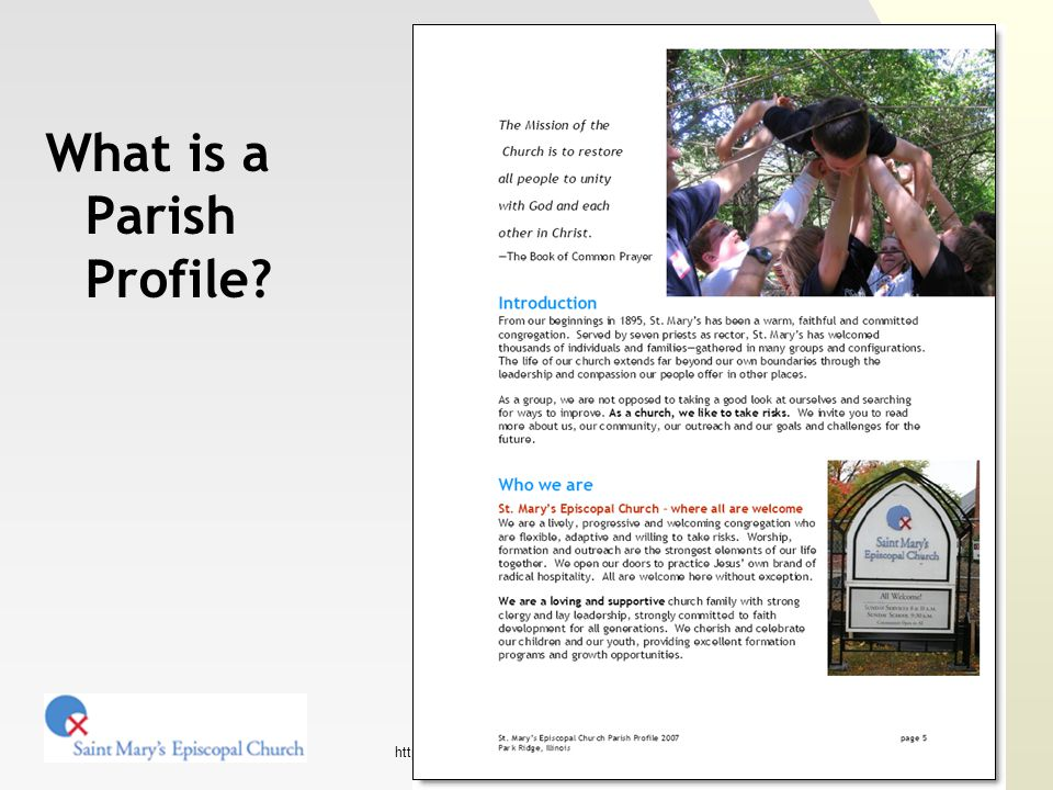 http://www.stmaryspr.org/ Putting it all together Table of contents