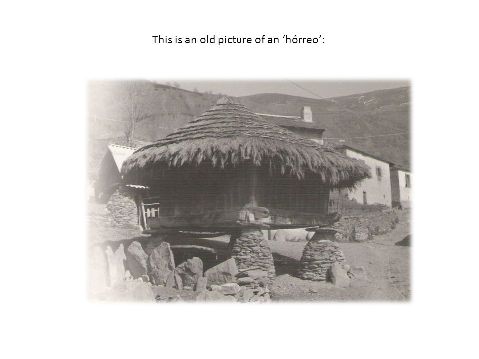 This is an old picture of an 'hórreo':