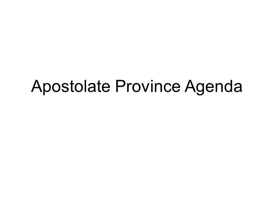 Apostolate Province Agenda