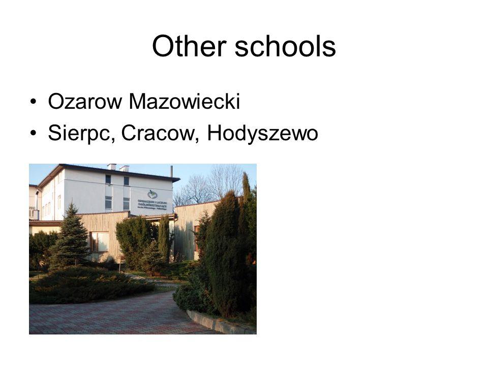 Other schools Ozarow Mazowiecki Sierpc, Cracow, Hodyszewo