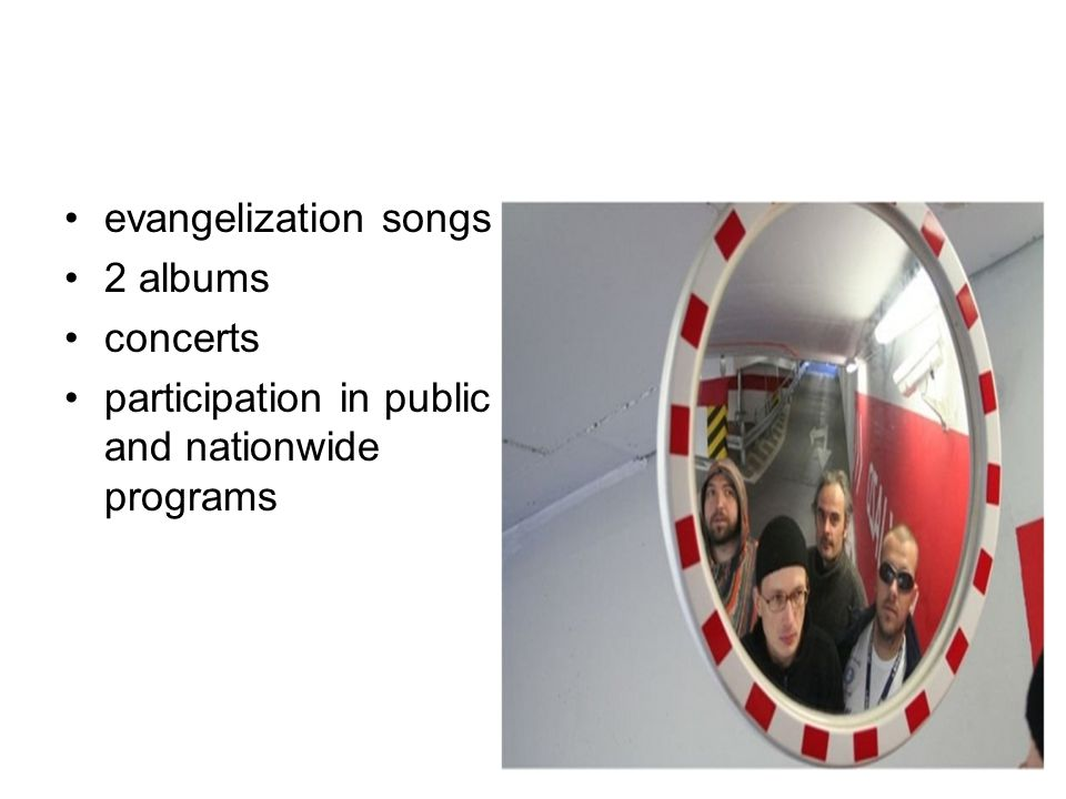 evangelization songs 2 albums concerts participation in public and nationwide programs