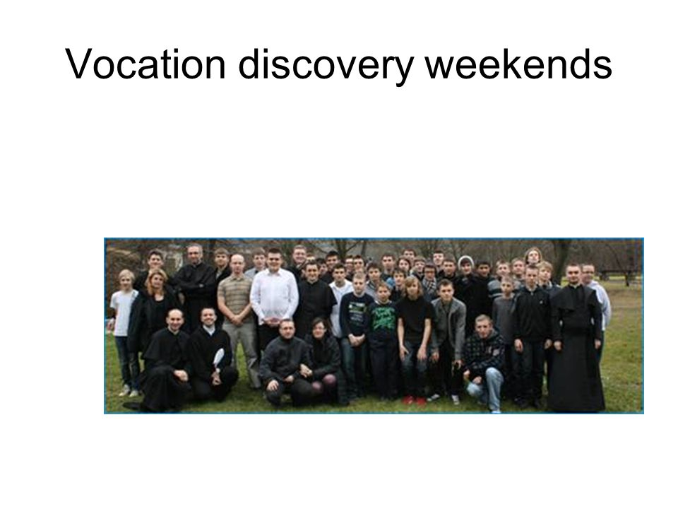 Vocation discovery weekends