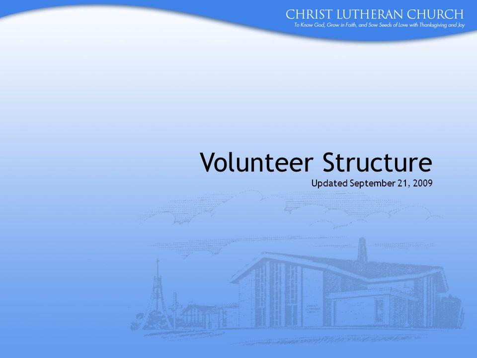 Volunteer Structure Updated September 21, 2009