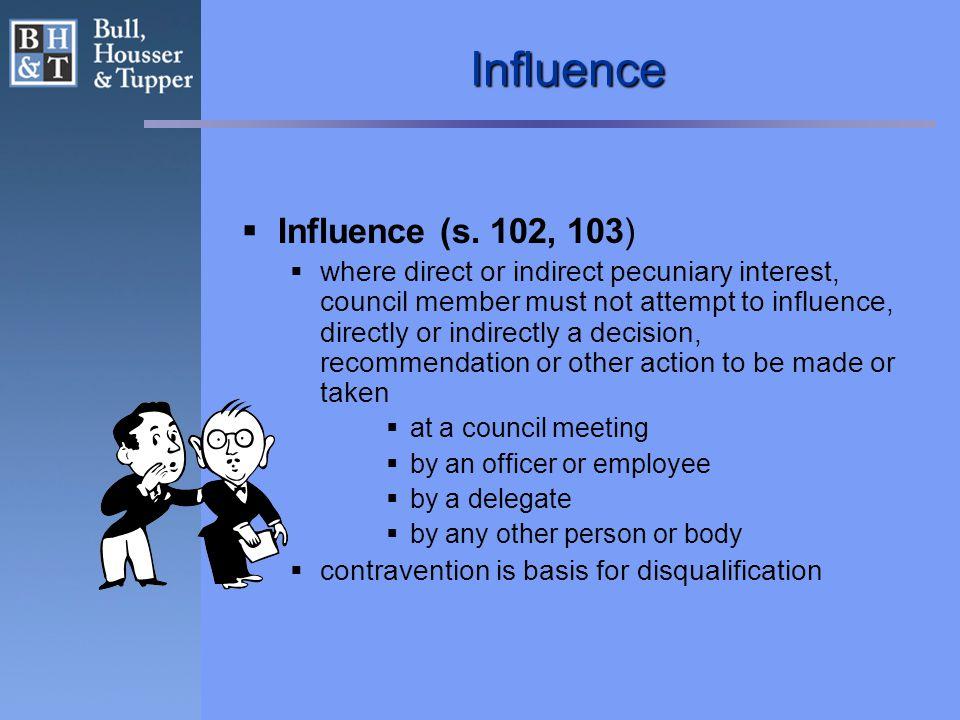 Influence  Influence (s.