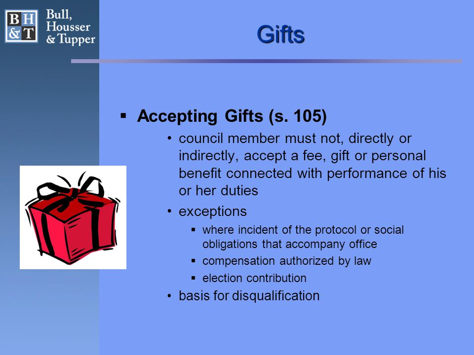 Gifts  Accepting Gifts (s.