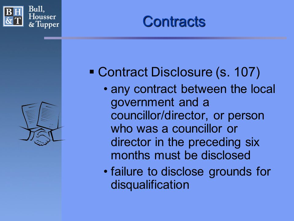 Contracts  Contract Disclosure (s.