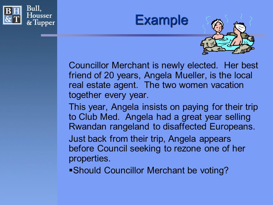 Example Councillor Merchant is newly elected.