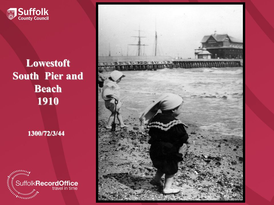 Lowestoft South Pier and Beach 1910 1300/72/3/44