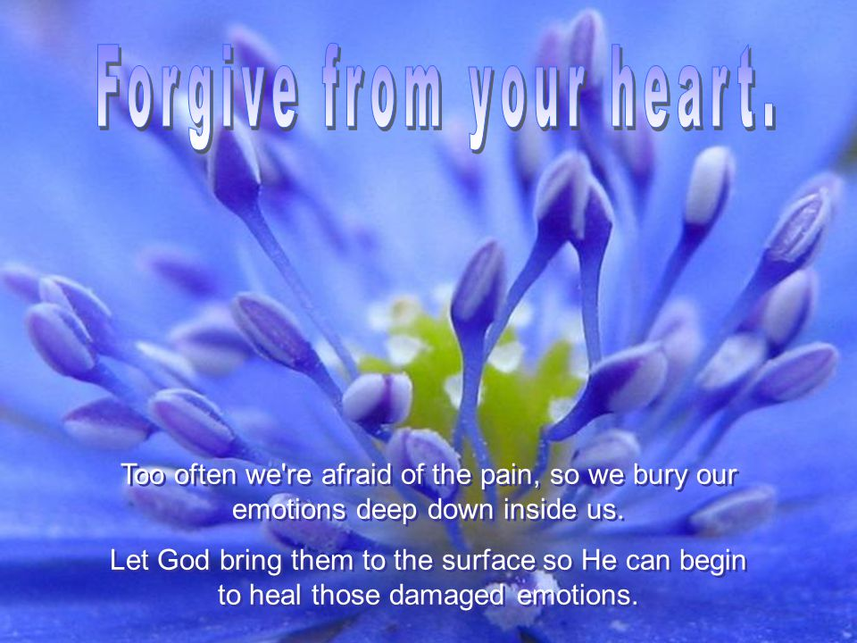 You will never get there.Make the hard choice to forgive even if you don t feel like it.