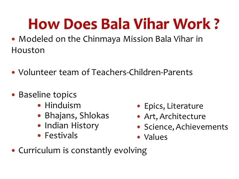 How Does Bala Vihar Work .