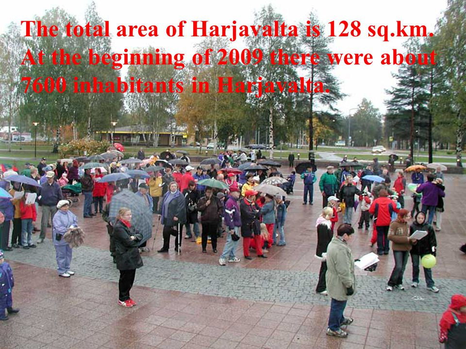 The total area of Harjavalta is 128 sq.km.