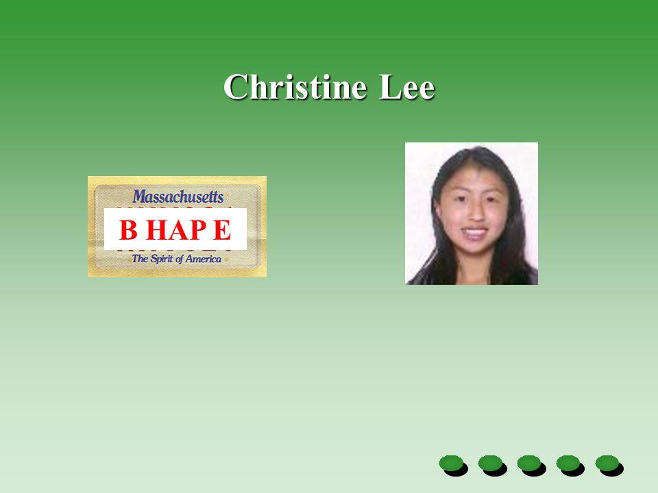 Christine Lee B HAP E