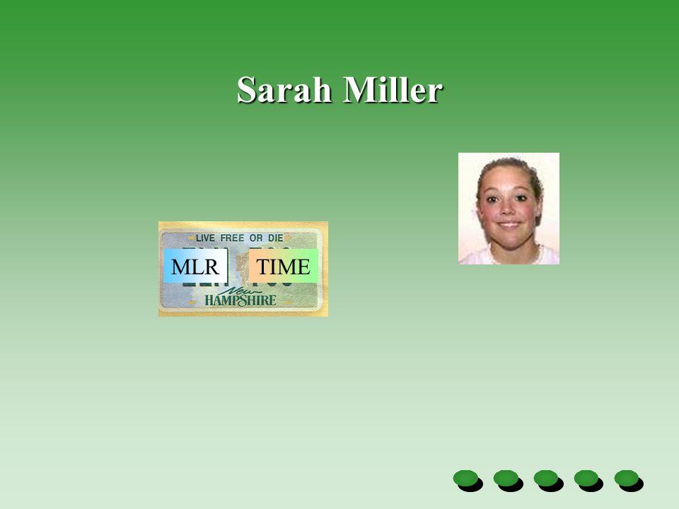 Sarah Miller MLRTIME