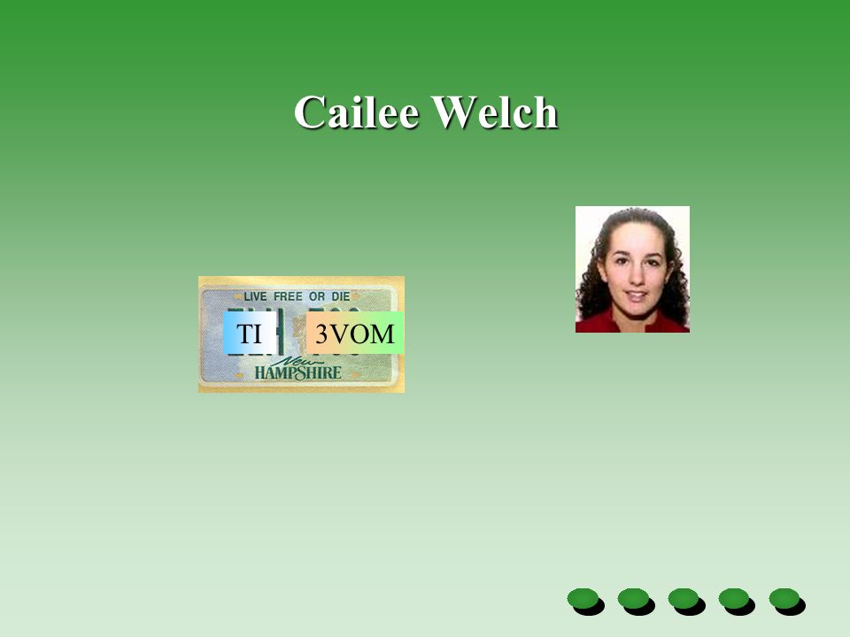 Cailee Welch TI3VOM