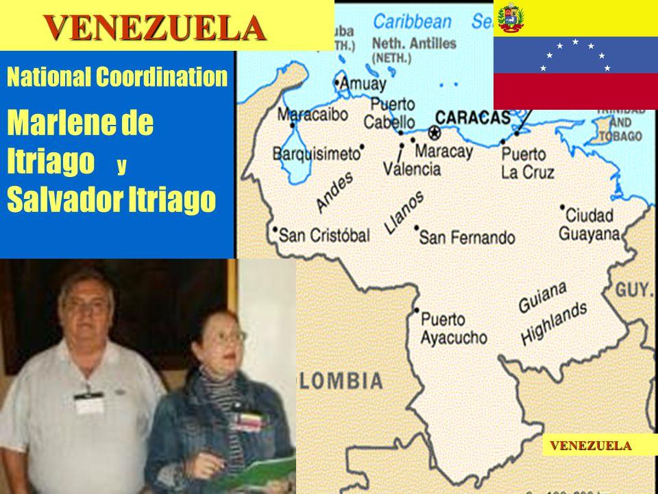 15 National Coordination Marlene de Itriago y Salvador Itriago VENEZUELA VENEZUELAVENEZUELA
