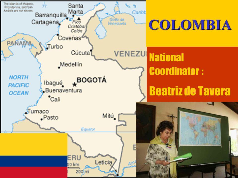 21 National Coordinator : Beatriz de TaveraCOLOMBIA