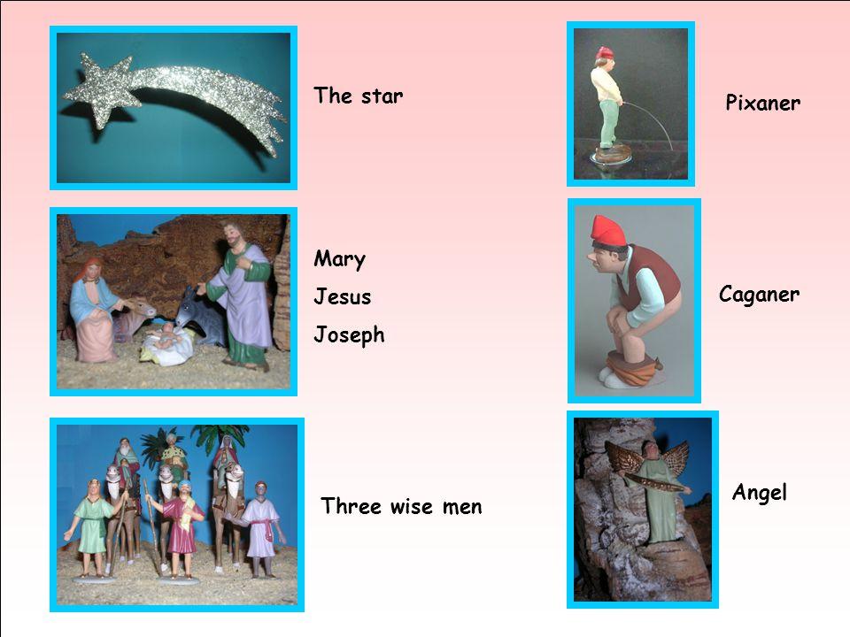 The star Mary Jesus Joseph Three wise men Pixaner Caganer Angel