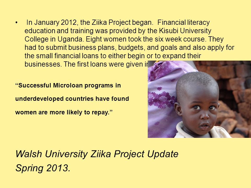 In January 2012, the Ziika Project began.