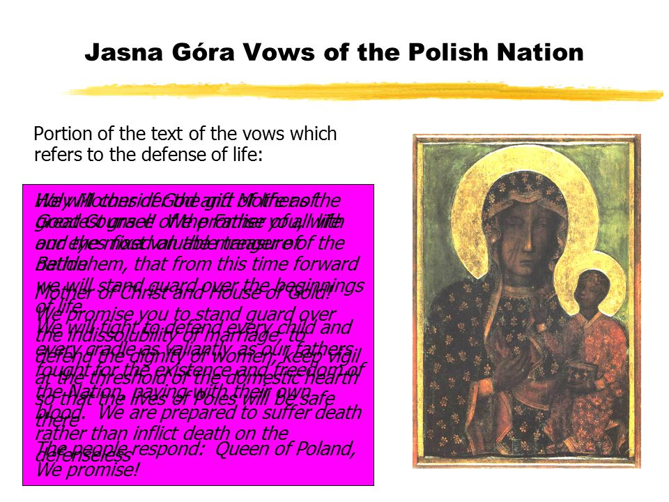 Jasna Góra Vows of the Polish Nation 26 August 2006 - 50th Anniversary - Cardinal Józef Glemp, Primate of Poland renewed the Jasna Góra Vows, which were repeated at each Mass in every parish in Poland