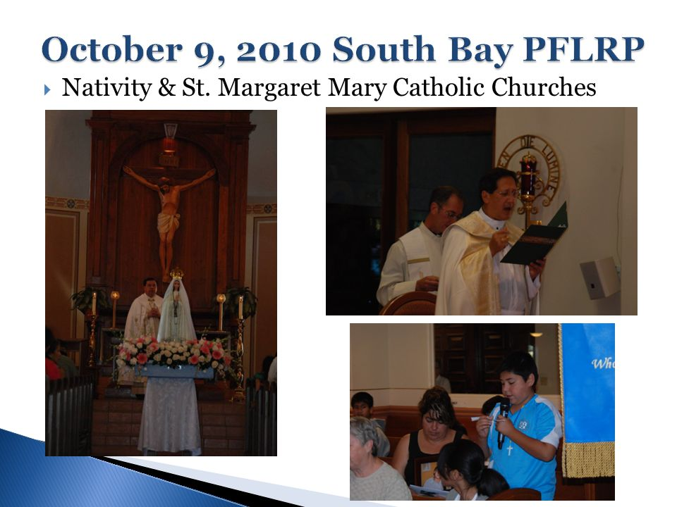  The PFLRP is now on its 4th year of a nine year novena ◦ Began in 2008 with 4 Parishes in the Archdiocese of Los Angeles, 1 Parish in Diocese of Fresno ◦ 2009 – doubled to 8 Parishes in the Archdiocese of Los Angeles & Diocese of Fresno ◦ 2010 – involvement overseas with 12 Parishes in Southern California and 1 Parish in the Philippines  PFLRP Spiritual Director - Fr.