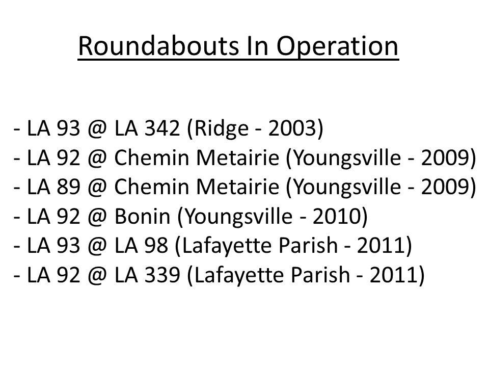 Roundabouts in Construction - LA 89 @ LA 92 (Youngsville)