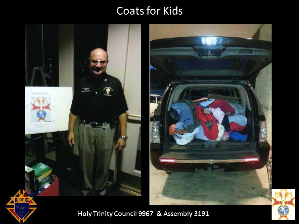 Holy Trinity Council 9967 & Assembly 3191 Coats for Kids
