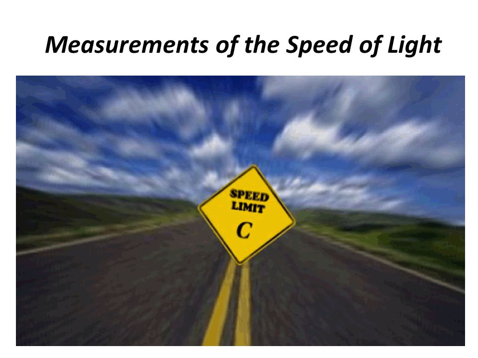 Measurements of the Speed of Light