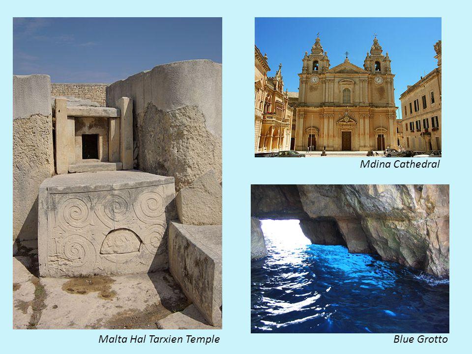 Malta Hal Tarxien TempleBlue Grotto Mdina Cathedral