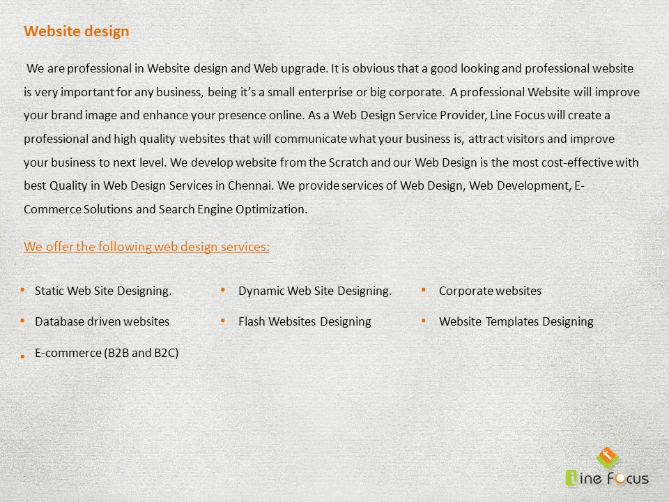 Website design We are professional in Website design and Web upgrade.