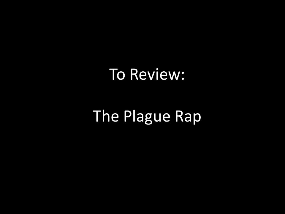 To Review: The Plague Rap