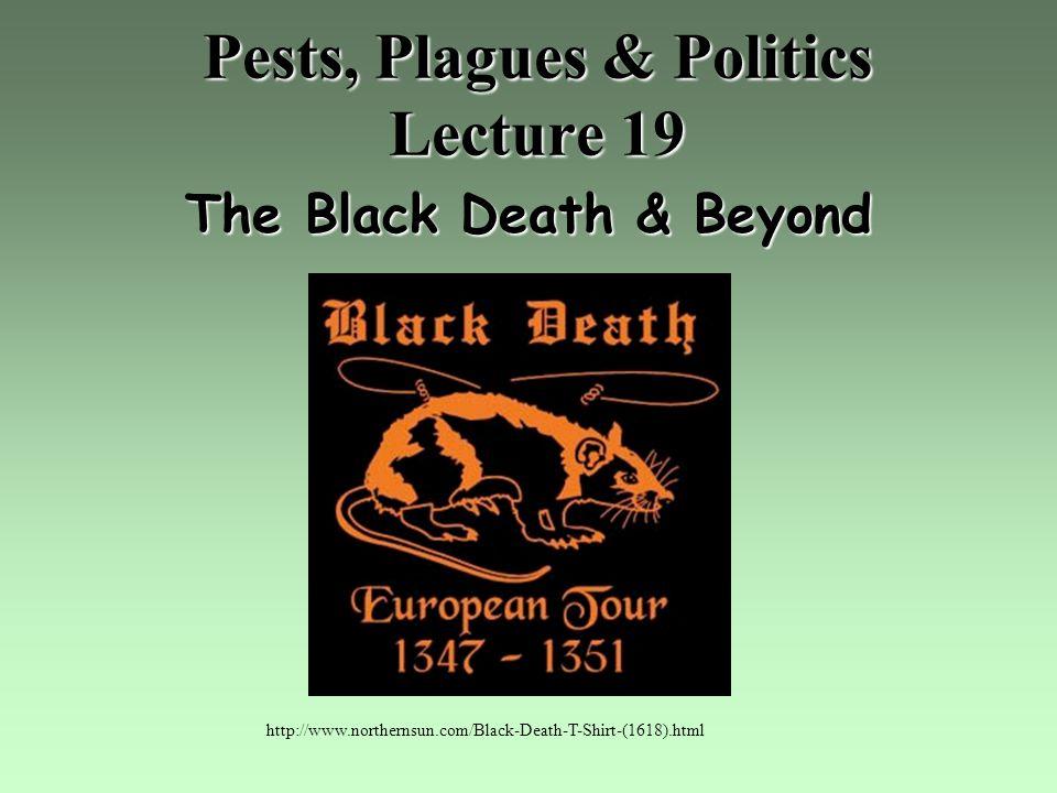Pests, Plagues & Politics Lecture 19 The Black Death & Beyond http://www.northernsun.com/Black-Death-T-Shirt-(1618).html