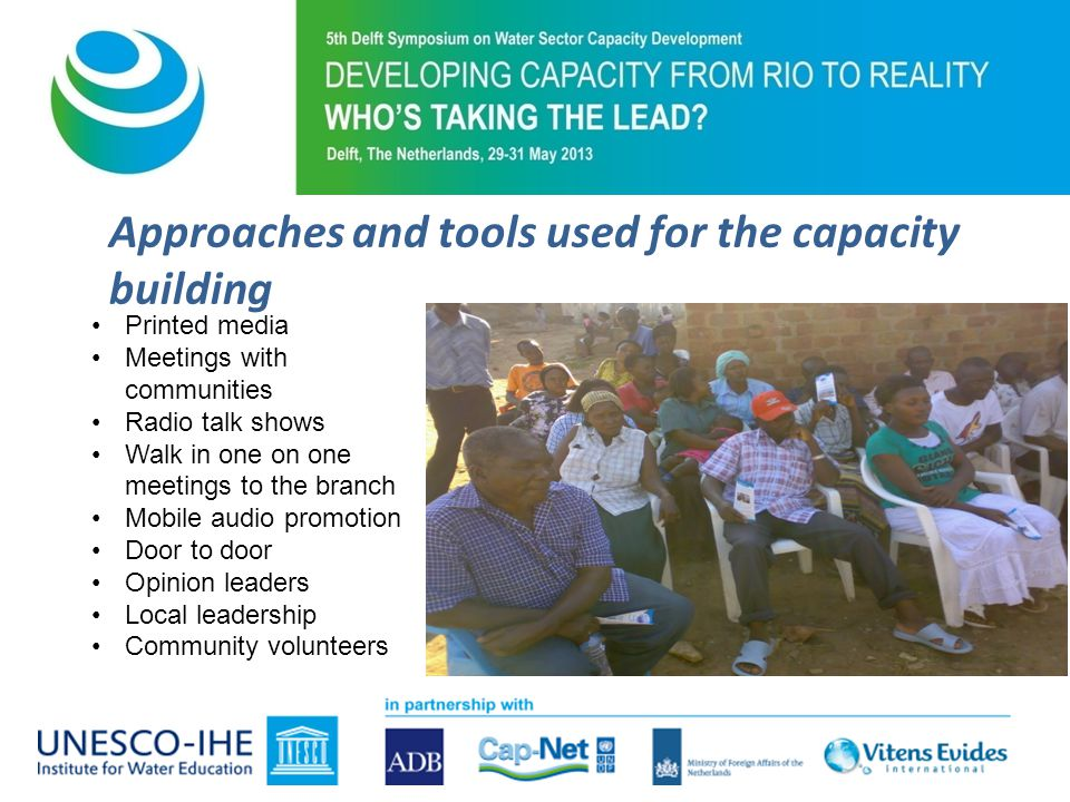 Challenges encountered during the capacity building Political cycles which influenced the community mobilisers Time required to fully capacitate the CM & CT – Transient nature thus frequency of refresher Varying interests e.g monetary gains from the programme