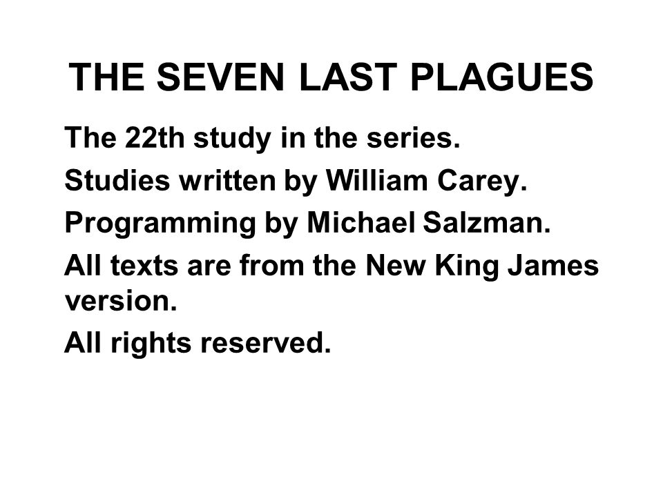 The 22th study in the series. Studies written by William Carey.