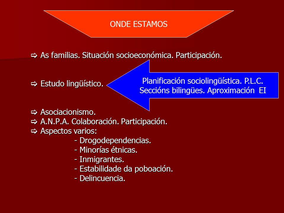  As familias. Situación socioeconómica. Participación.