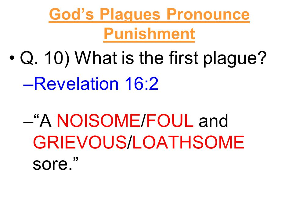 Q. 10) What is the first plague.