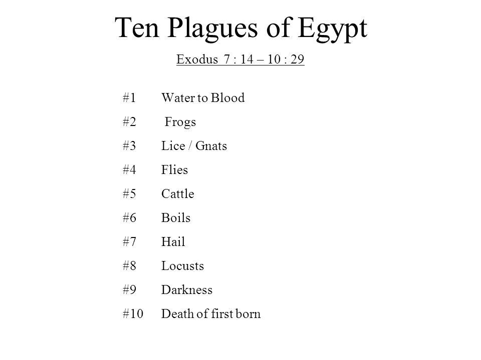 Ten Plagues of Egypt 1.