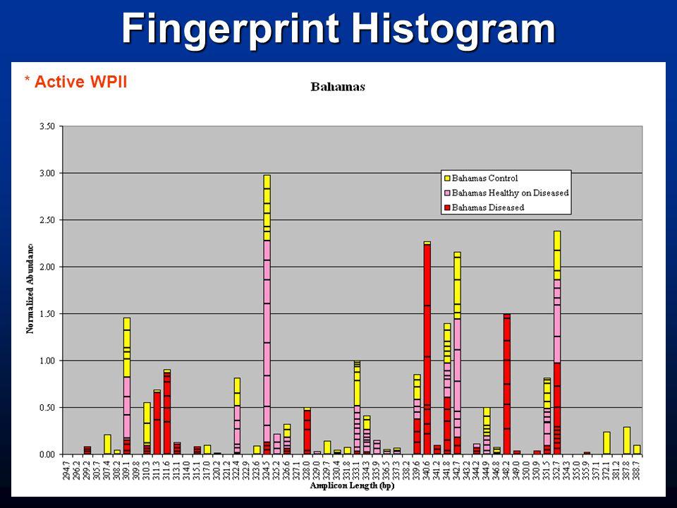Fingerprint Histogram * Active WPII