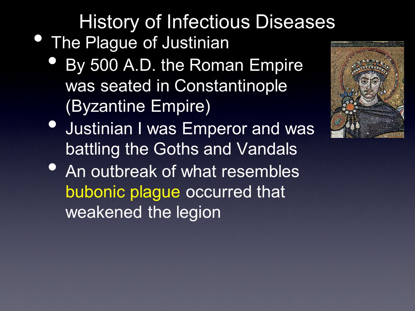 The Plague of Justinian By 500 A.D.