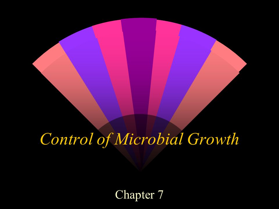 Control of Microbial Growth Chapter 7