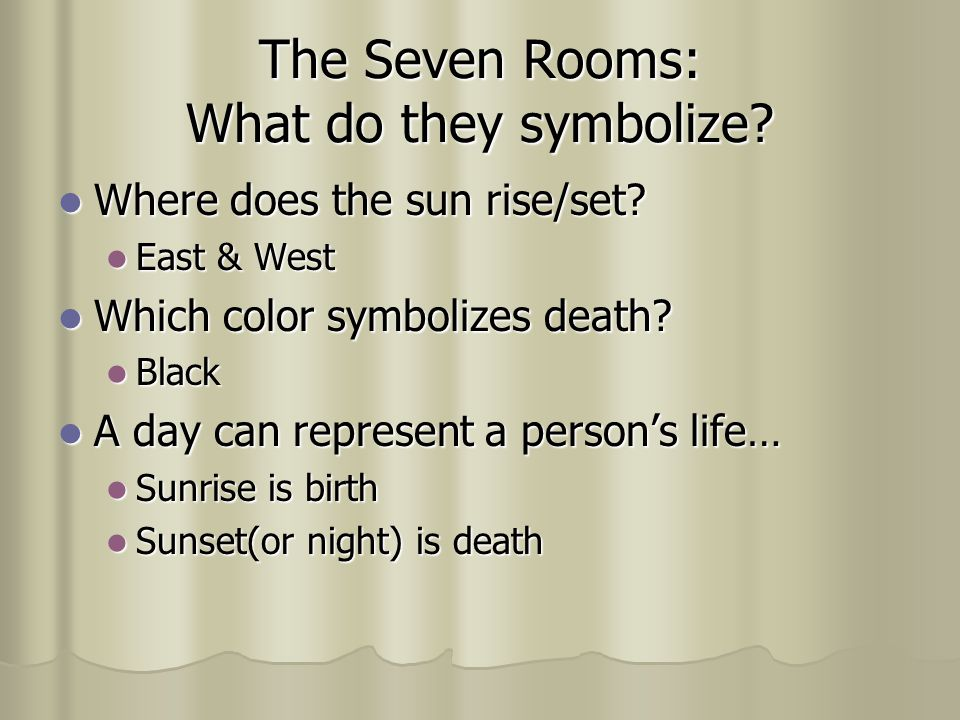 Other Symbols & Meanings 1. The Ebony Clock 2. The Masquerade Ball 1.