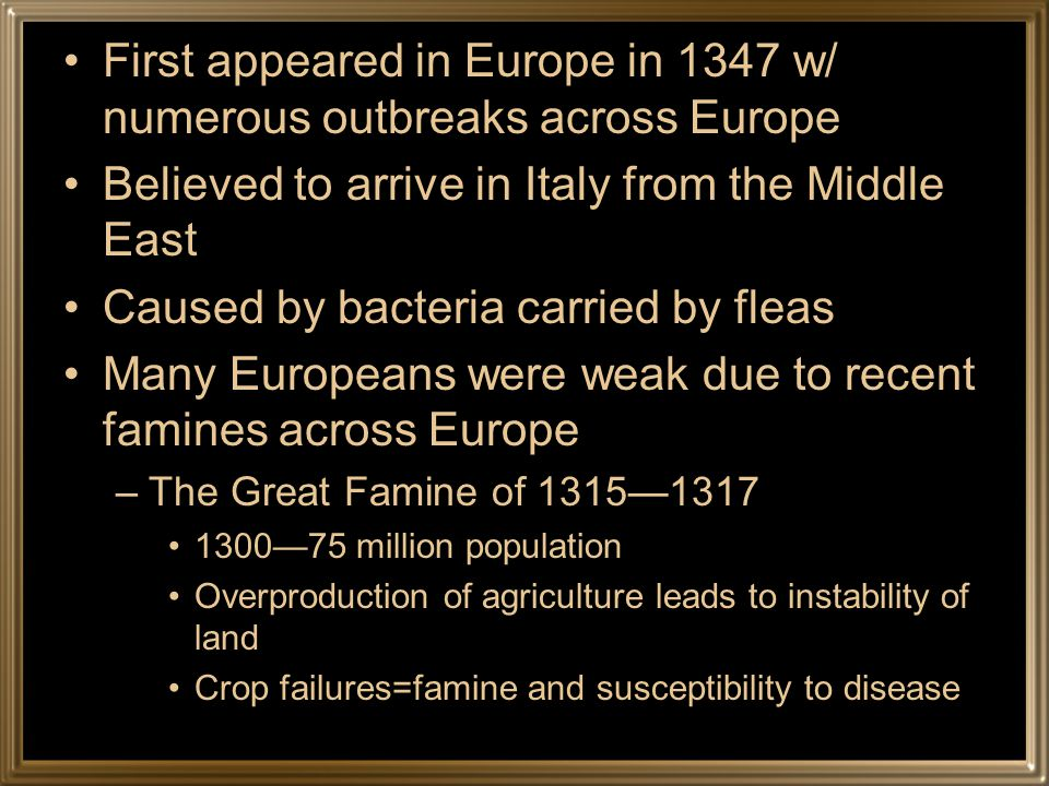 Based on the map, how do you think the plague spread to Europe