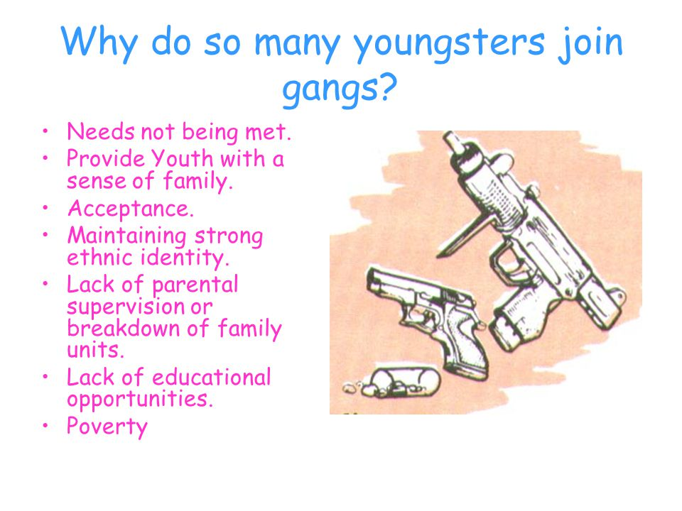 Four factors are primary in the formation of Juvenile Gangs