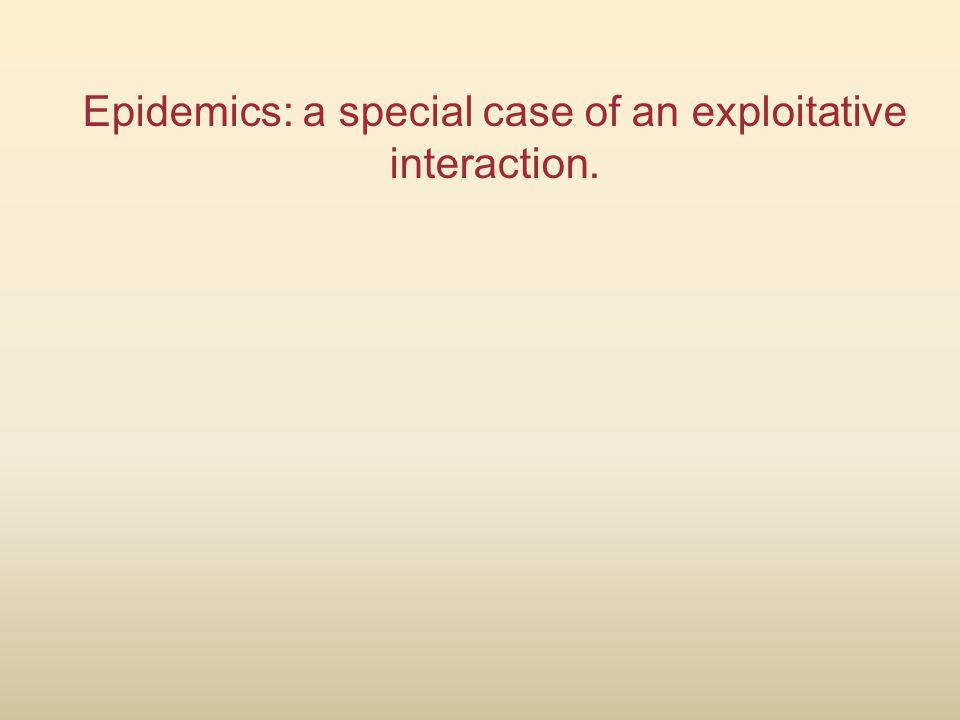 Epidemics: a special case of an exploitative interaction.
