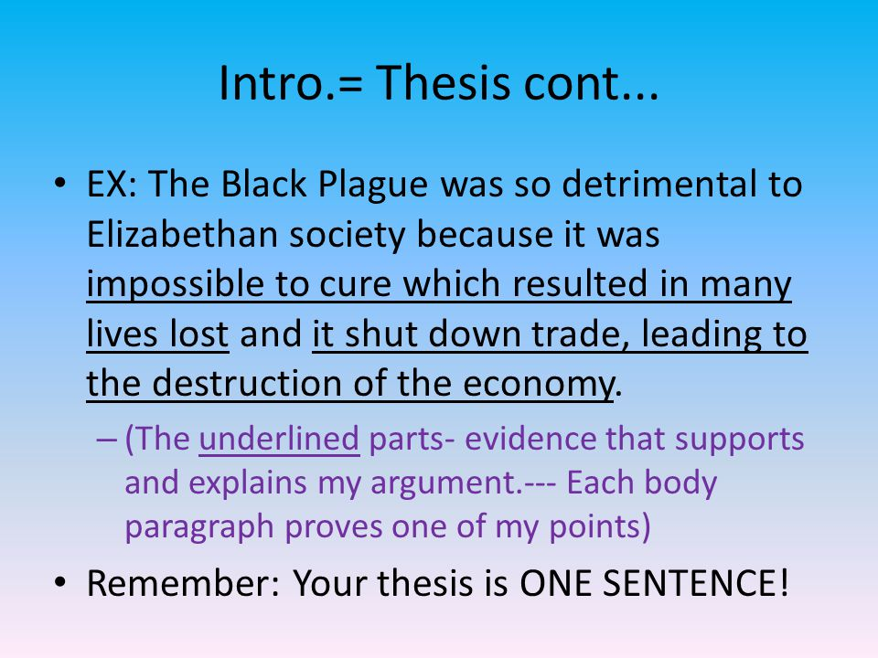 Intro.= Thesis cont...