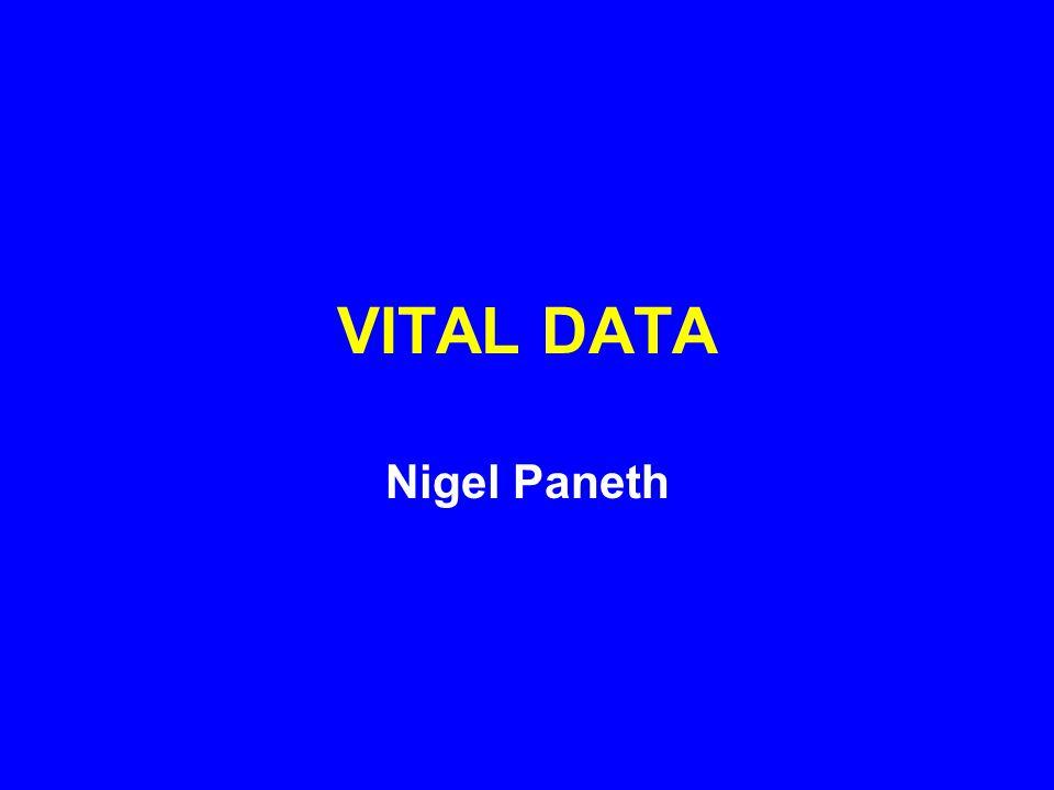 VITAL DATA Nigel Paneth