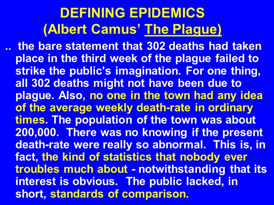 DEFINING EPIDEMICS (Albert Camus' The Plague)..