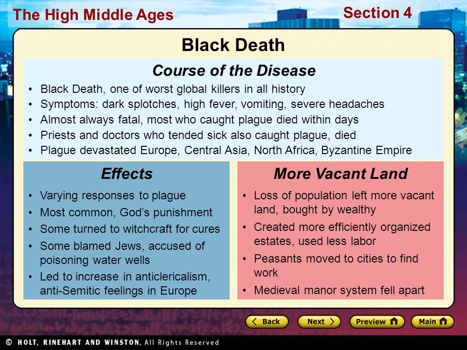 Section 4 The High Middle Ages
